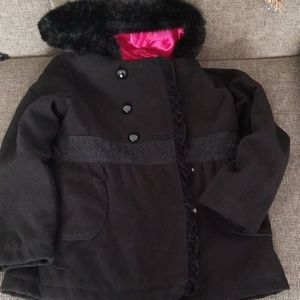 KC Collections Hooded Little Girls Coat